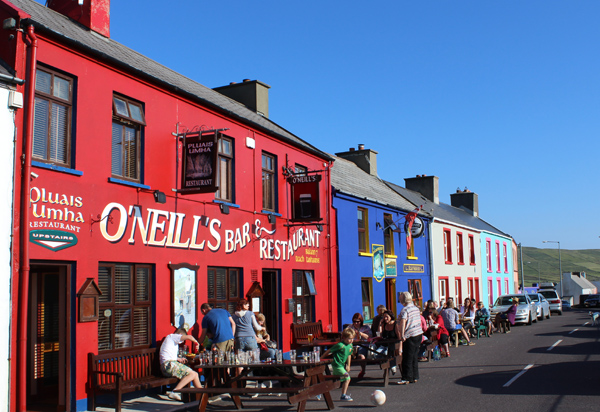 Settling down for the evening outside O'Neills