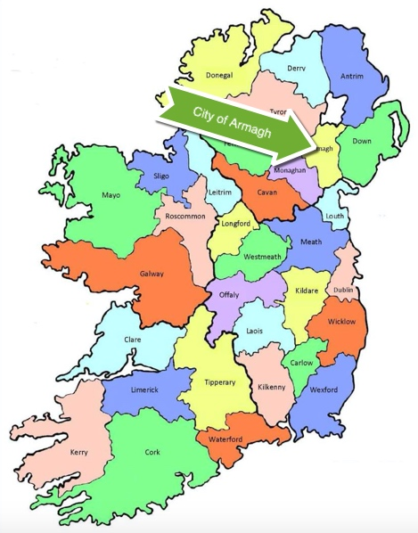 Ireland City of Armagh Map